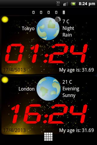 GalaxTime lite (時計ウィジェット)|玩旅遊App免費|玩APPs