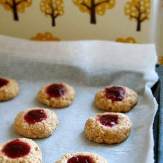 Sugar-free Thumbprint Jam Cookies
