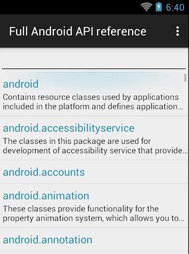 Справочник Android API