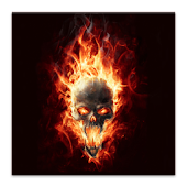 Burning Skull Live Wallpaper
