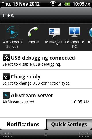 AirStream Server - screenshot
