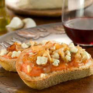 Caramelized Onion & Gorgonzola Bruschetta.
