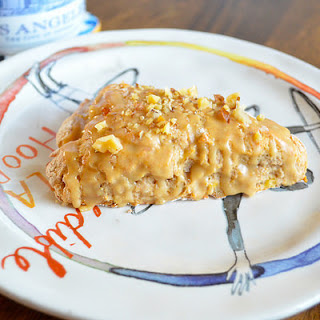 Vegan Banana Nut Scones With Maple Glaze
