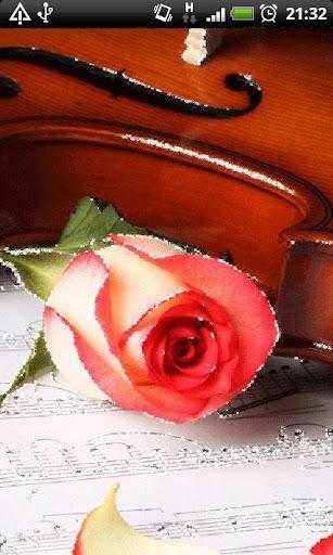 Glitter Rose Music Notes LWP