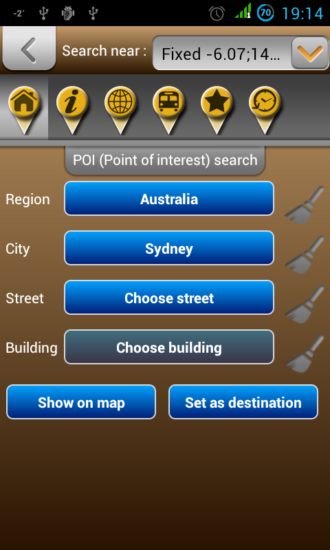Map of Australia- screenshot