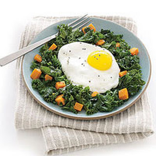 Eggs Over Kale Hash