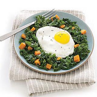 Eggs Over Kale Hash.