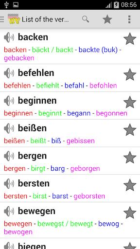 German Irregular Verbs Pro