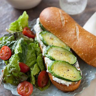 Roasted Zucchini and Ricotta Sandwiches.