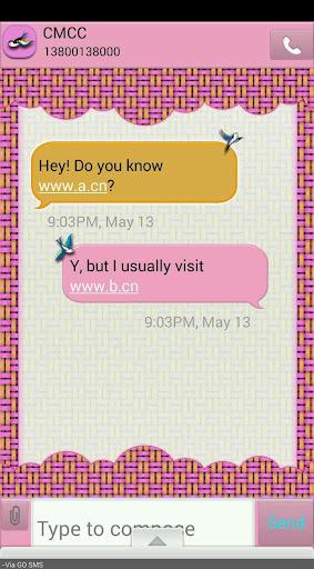 【免費個人化App】PrettyBirds/GO SMS THEME-APP點子
