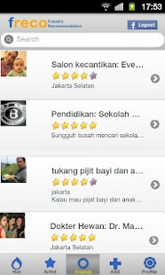 Freco :friend's recommendation- screenshot thumbnail