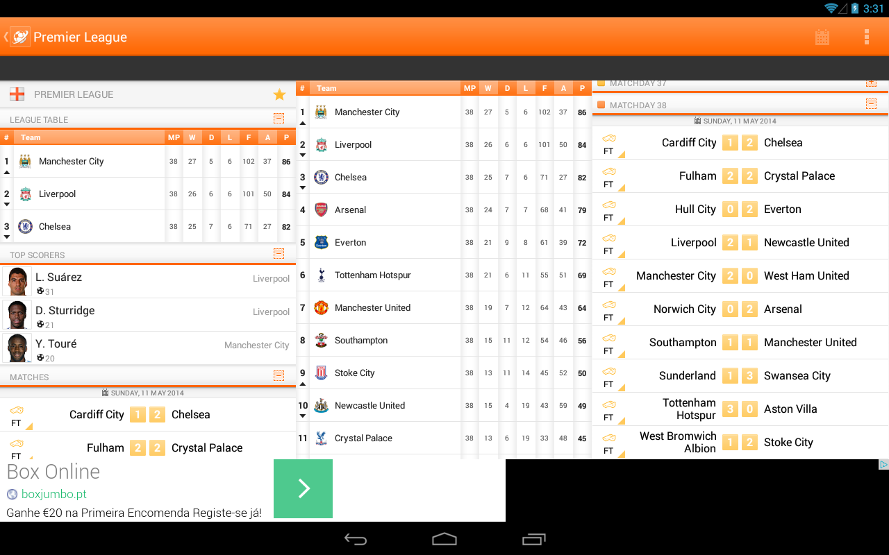 LiveSoccer -  live scores - screenshot