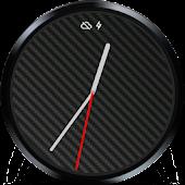 Simple Carbon Fiber Watch Face