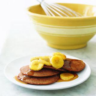 Chocolaty Pancakes with Sauteed Bananas.