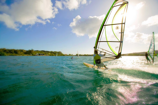 Curacao-windsurfing - Curacao's strong winds and warm waters are a windsurfer's dream.