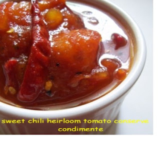 Sweet Chili Heirloom Tomato Conserve.