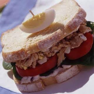 Tuna Niçoise Sandwiches with Olive Mayonnaise.