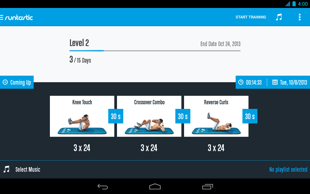 Runtastic Six Pack Ab Workout- screenshot