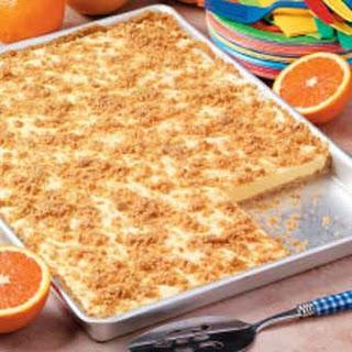 Orange Cream Freezer Dessert.