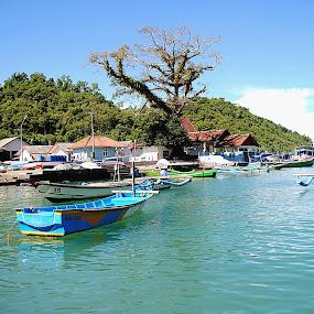 fisherman boat sadeng by Christian Nugroho - Transportation Boats ( water, device, transportation )