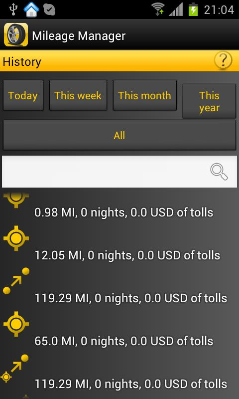 Mileage Manager - GPS Tracker - screenshot