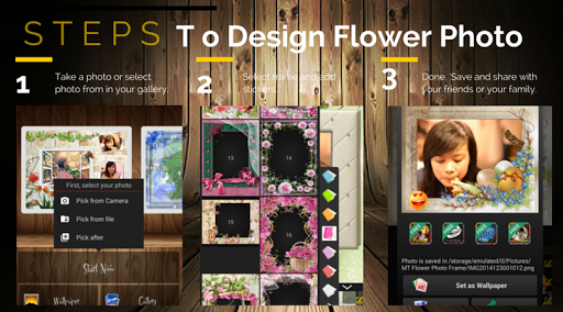 Flower Photo Frame +