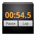 Stopwatch, lap timer, chrono icon