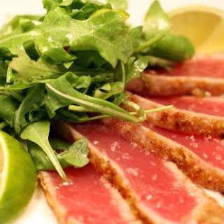 Wasabi Pea-Crusted Rare-Seared Tuna.