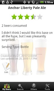 Beer - List, Ratings & Reviews - screenshot thumbnail