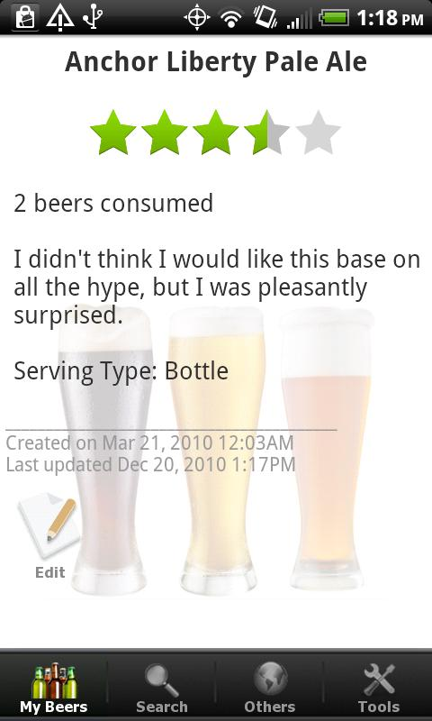 Beer - List, Ratings & Reviews - screenshot