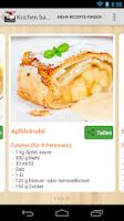 Screenshot of Kuchen backen Rezepte