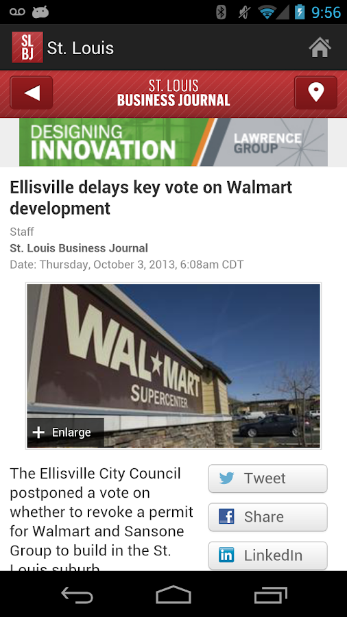 The St. Louis Business Journal- screenshot