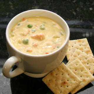 Hearty Cheese and Salmon Chowder