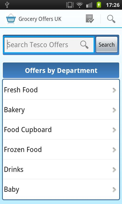 Grocery Offers UK - screenshot