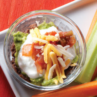 Individual Black Bean Mexican Layer Dips