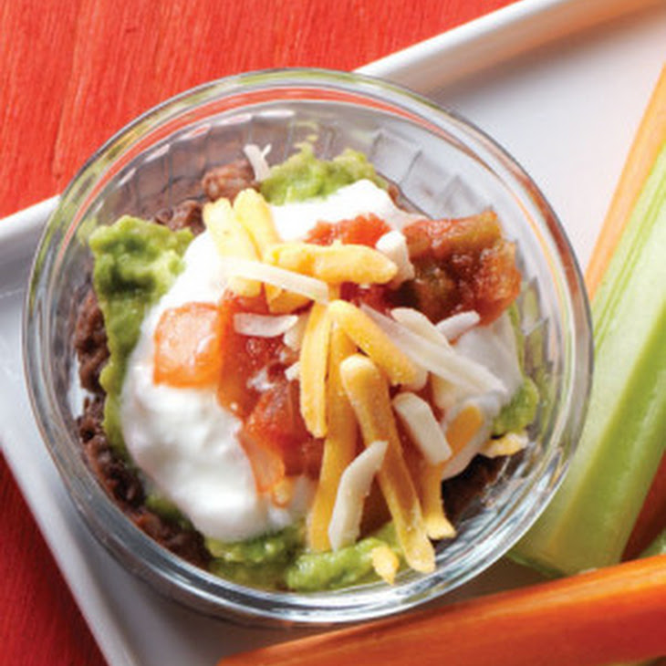 Individual Black Bean Mexican Layer Dips Recipe