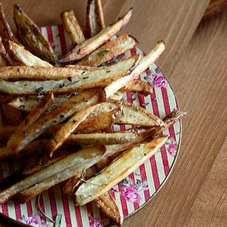 Crunchy Oven Baked Fries with Herbes De Provence Recipe