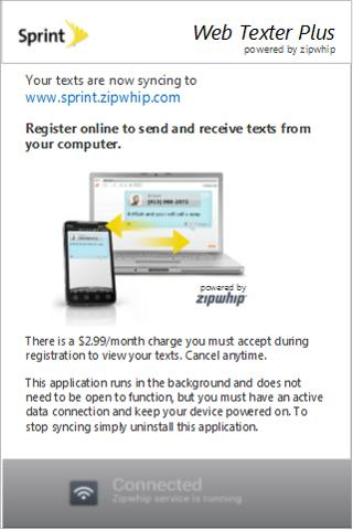 Sprint Web Texter Plus - screenshot