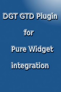 DGT GTD Pure Widget plugin- screenshot thumbnail