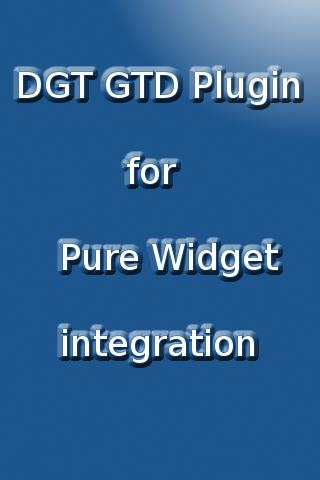 DGT GTD Pure Widget plugin - screenshot