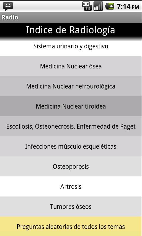 Radiologia en preguntas cortas- screenshot