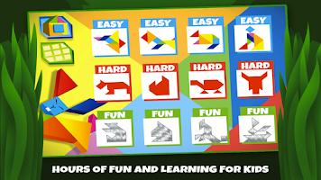 Screenshot of Tangram Puzzles: Wild Animals