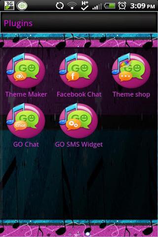 【免費個人化App】GO SMS - Love Of Music-APP點子