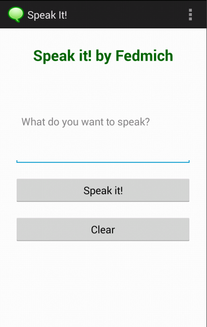 Speak It! (by Fedmich)- screenshot