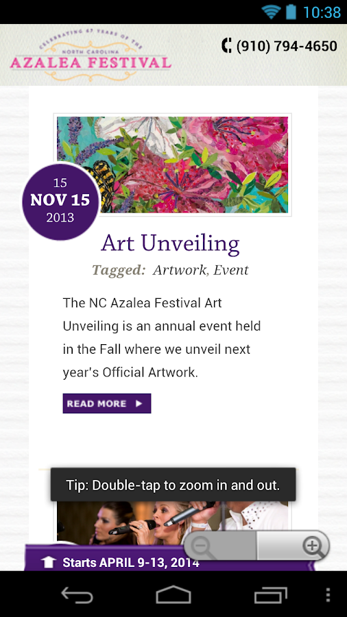 North Carolina Azalea Festival - screenshot