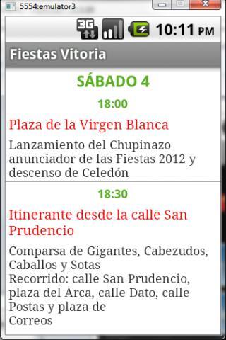 Fiestas Vitoria-Gasteiz 2012- screenshot