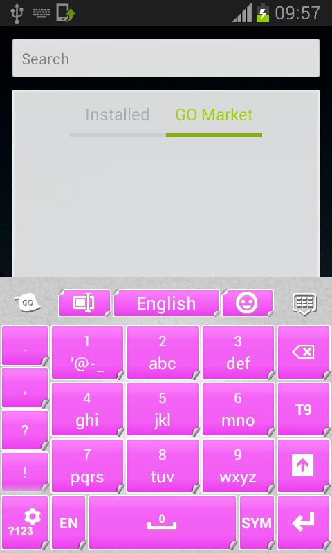 Pink Keyboard Stickers - screenshot