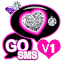 GO SMS Cute Pink Diamond Theme icon