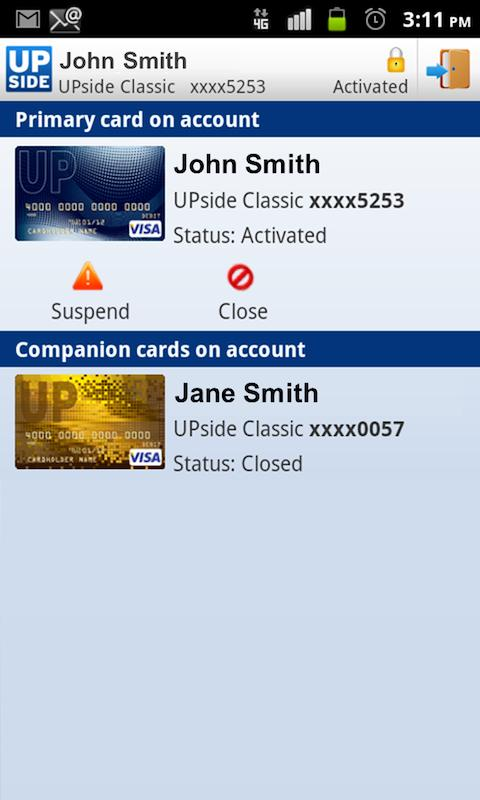 UPside Card - screenshot