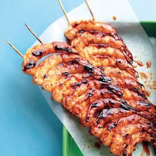 Spicy-Sweet Glazed Shrimp.